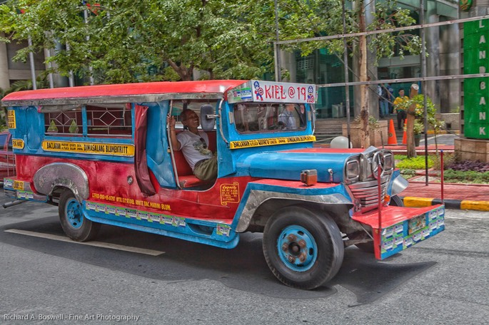 Jitney Bus Manila Richard A Boswell Fine Art